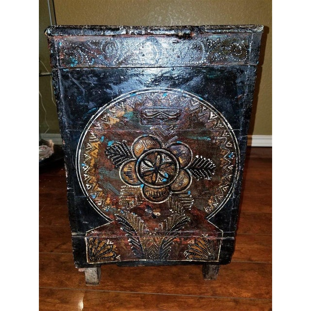 Late 18th Century 18c Scandinavian Hand Painted Pine Chest For Sale - Image 5 of 11