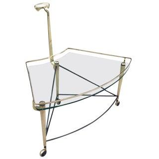 Italian Bronze Bar Cart For Sale