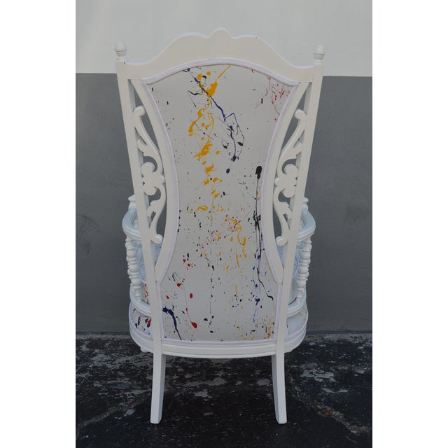 Vintage Mid-Century Hollywood Regency Style Chair For Sale - Image 4 of 13