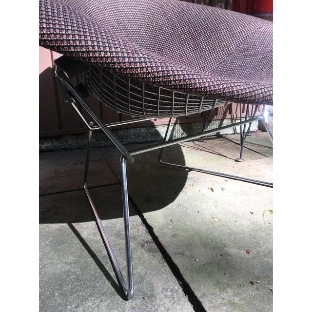 1970s Mid Century Modern Harry Bertoia for Knoll Diamond Lounge Chair - Image 5 of 8