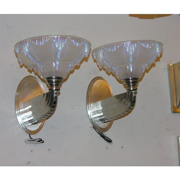 1930s French Art Deco Wall Sconces For Sale - Image 5 of 5