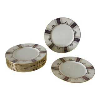 Lenox for Tiffany & Co. Hand Painted Plates - Set of 12 For Sale