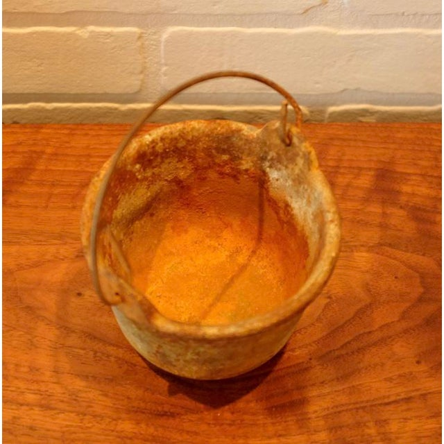 Patinated Foundry Smelting Crucible For Sale In Los Angeles - Image 6 of 9