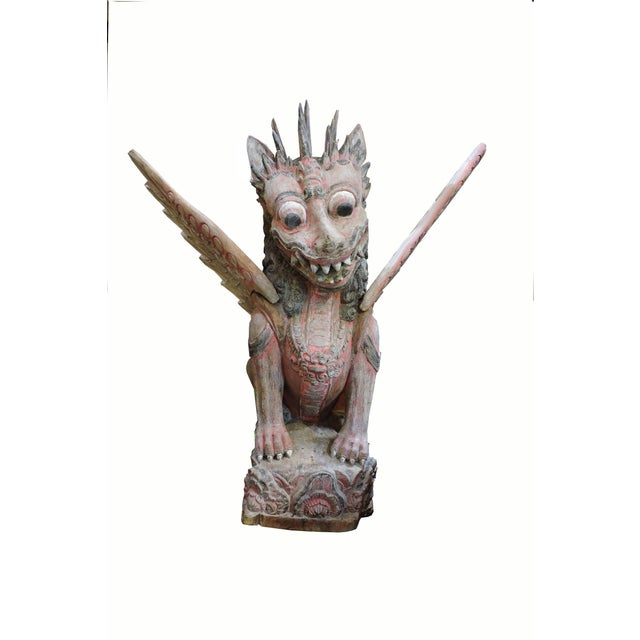 1900 - 1909 Antique Carved Garuda For Sale - Image 5 of 5