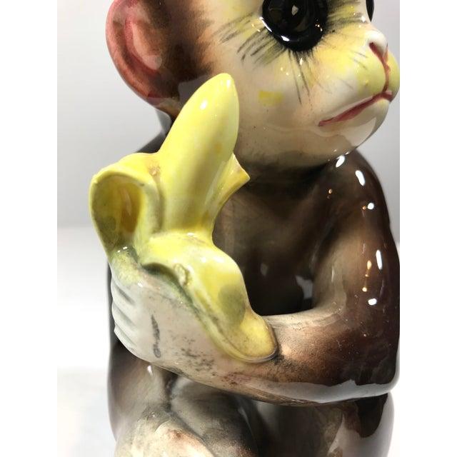 Ceramic Mid-Century Tilso Ceramic Monkey Figurine For Sale - Image 7 of 10