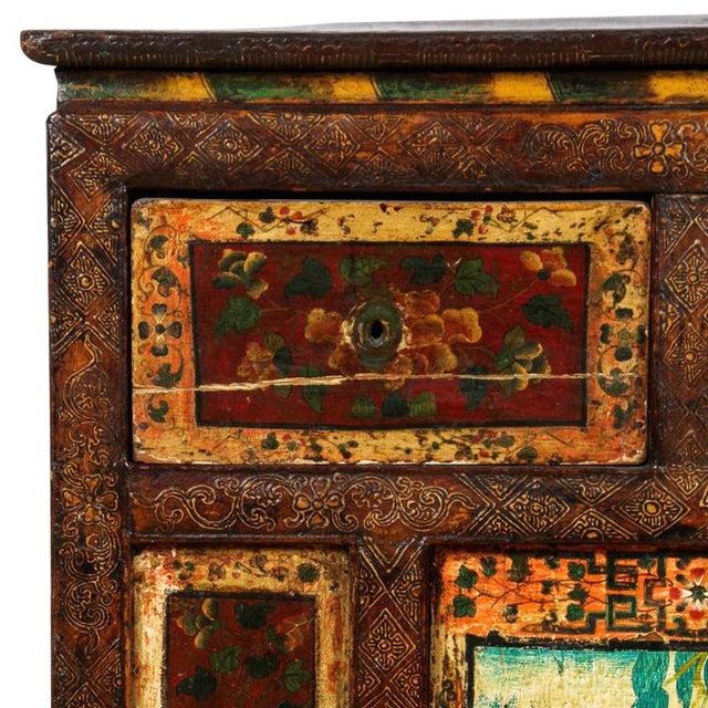 Antique Tibetan Monastery Cabinet - Image 3 of 6