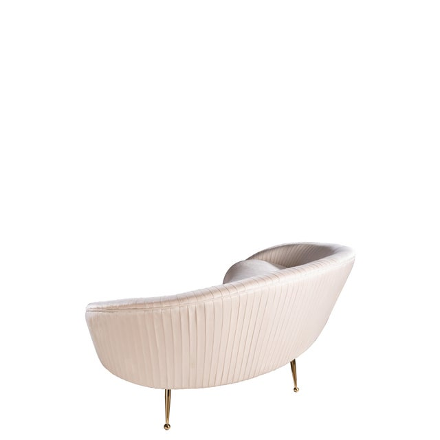 Contemporary Beatrice Curved Sofa in Off White For Sale - Image 3 of 5