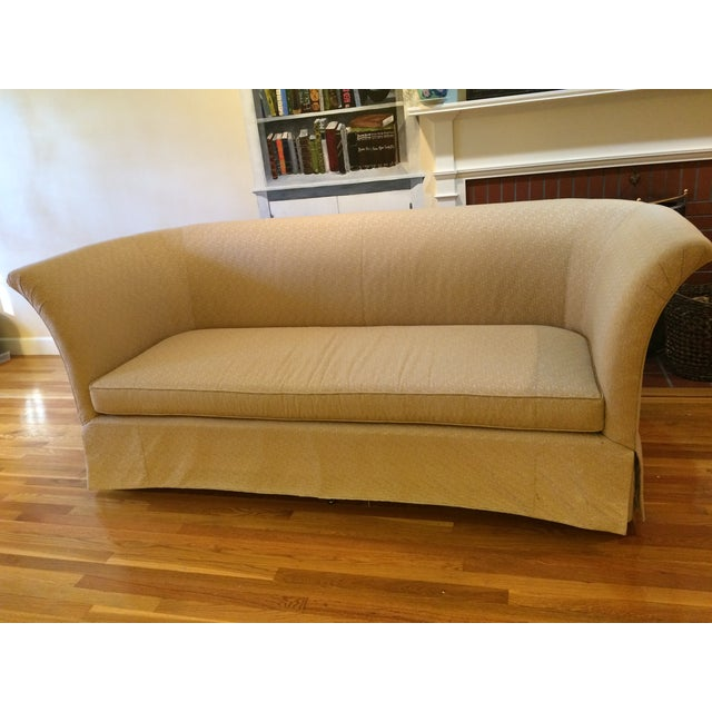 Beacon Hill Curved Back Yellow Tuxedo Sofa - Image 2 of 6