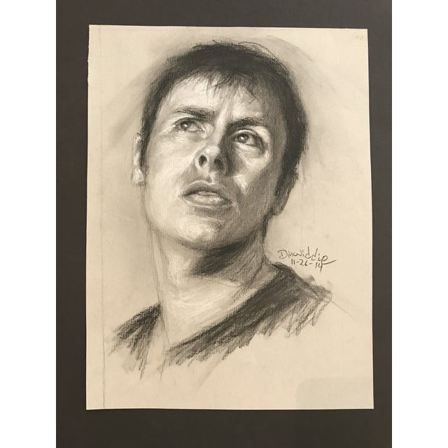 Contemporary 2014 Paul Dinwiddie Portrait of a Man Painting For Sale - Image 3 of 3