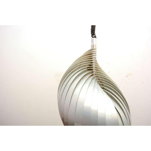 """Mid-Century Modern Mid Century Modern French Pendant Chandelier by Mathieu Lamp """"S"""" Shape For Sale - Image 3 of 8"""