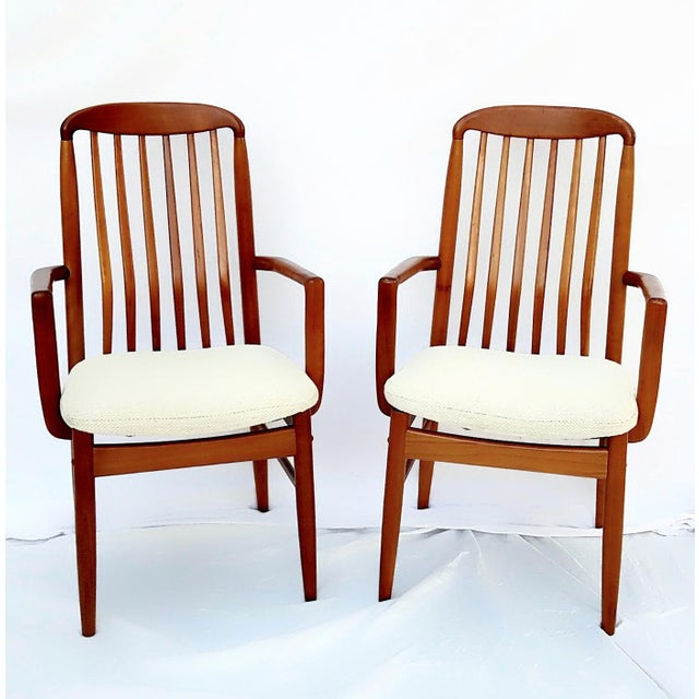 1960s Danish Modern Benny Linden Walnut Arm Chairs - a Pair For Sale - Image 11 of 11