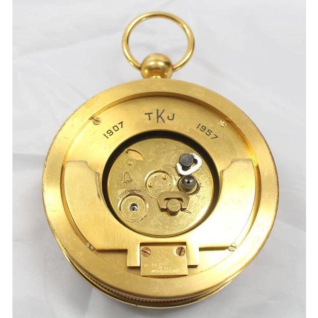 Tiffany Vintage Bronze Travel Alarm Clock For Sale - Image 4 of 7