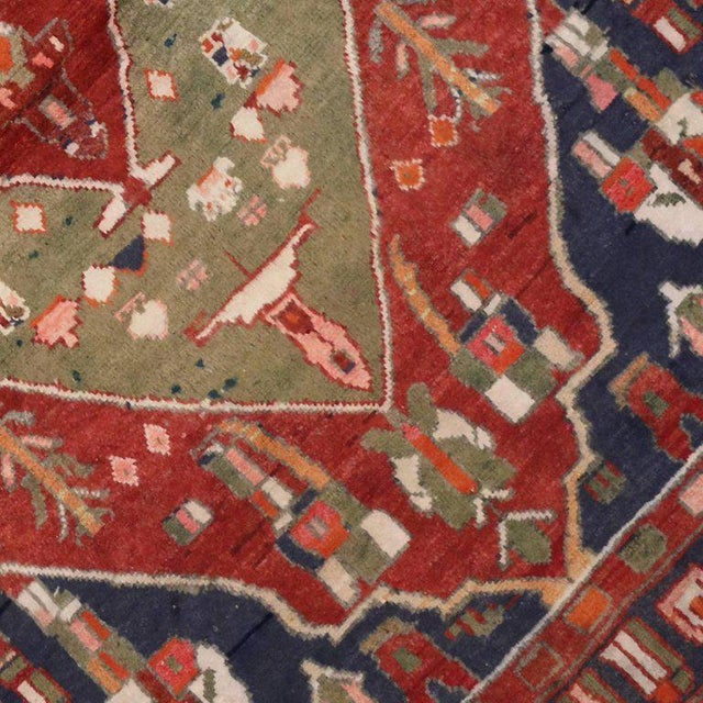 Vintage Persian Bakhtiari Rug with Modern Tribal Style For Sale - Image 5 of 8