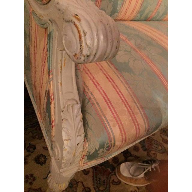 Swedish Fashioned Louis XVI Style Salon Suite, Off-White Paint Decorated Finish - Image 7 of 10