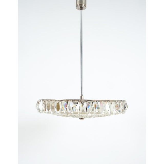 1950s Beautiful Bakalowits Dome Crystal Glass Chandelier For Sale - Image 5 of 8