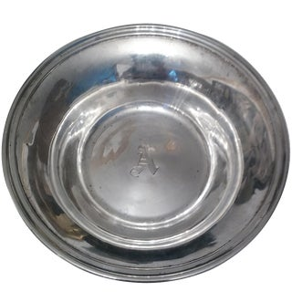 """Last Call. Antique """"A"""" Monogram Sterling Bowl For Sale"""