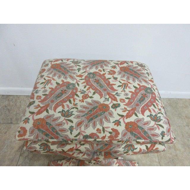 Custom Upholstered Ottoman Stool For Sale - Image 4 of 7