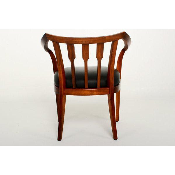 1980s Mid-Century Modern Set of Four Custom Walnut Chairs For Sale - Image 5 of 7