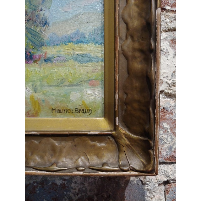 1930s Maurice Braun - Study of a California Landscape -Oil Painting For Sale - Image 5 of 8