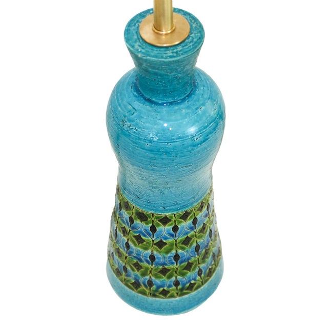 Bitossi Raymor Rimini Blue Pottery Lamp - Image 2 of 7