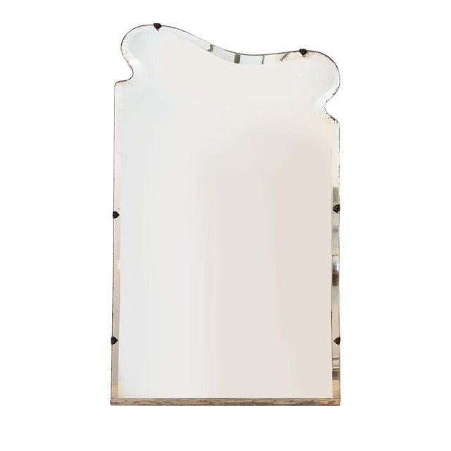 Asymmetrically-Shaped Art Nouveau Mirror For Sale