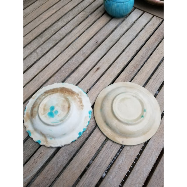 French Majolica Small Plates - a Pair For Sale In New York - Image 6 of 10