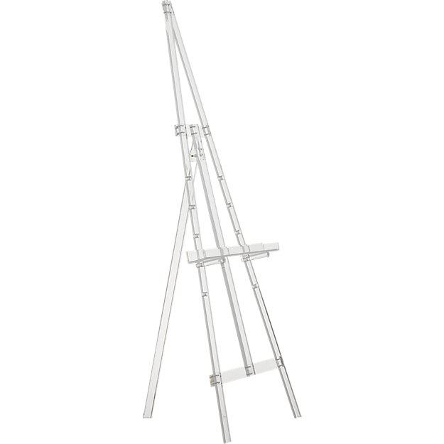 CB2 Cb2 Acrylic Tripod Easel For Sale - Image 4 of 5