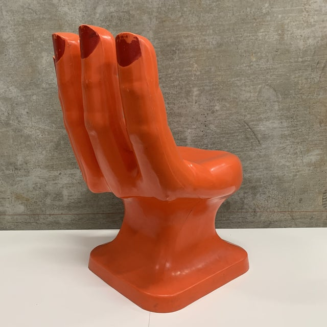 Vintage Modern Plastic Molded Hand Chair For Sale - Image 4 of 10