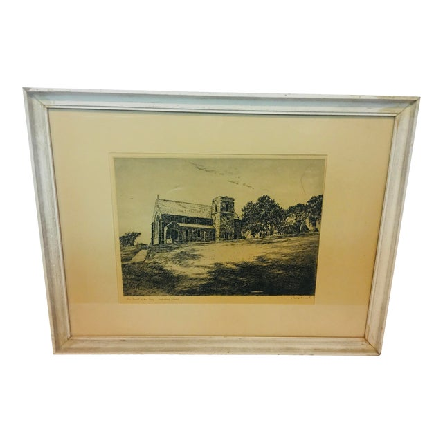 Vintage Canterbury School Chapel Etching by Philip Kappel For Sale