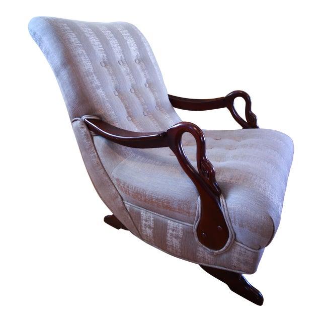 Awe Inspiring Antique 1930S Swan Arm Gooseneck Rocking Chair Pdpeps Interior Chair Design Pdpepsorg