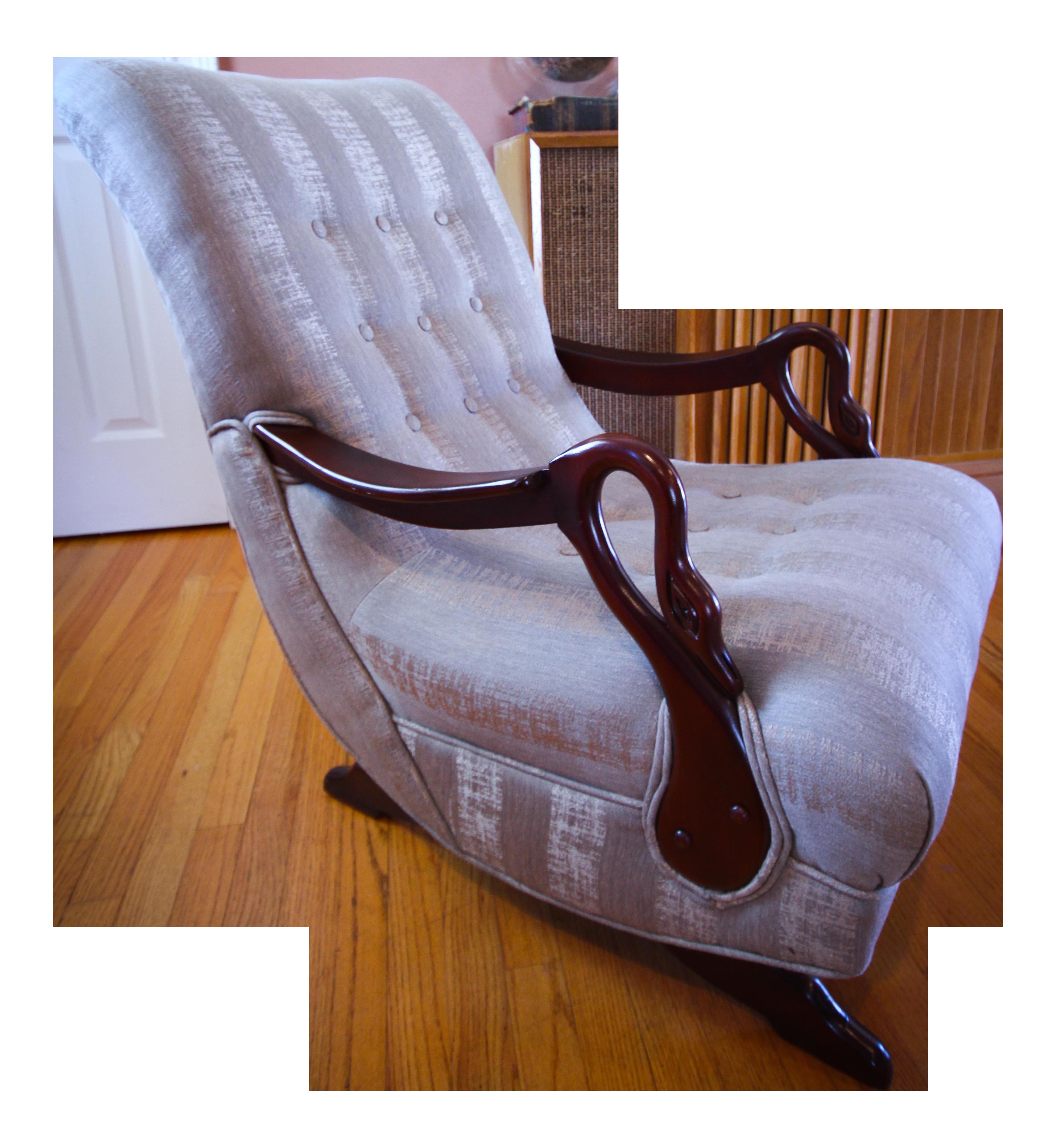 Antique 1930u0027s Swan Arm/Gooseneck Rocking Chair