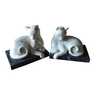 Cat Bookends - A Pair For Sale