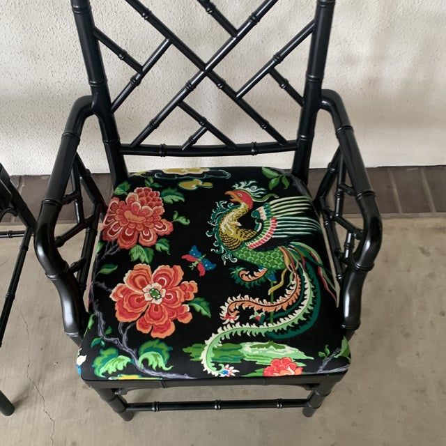 Black Bamboo Chairs- a Pair For Sale - Image 11 of 13