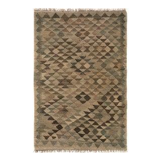 Kilim Arya Collin Gray & Brown Wool Rug - 2′9″ × 4′