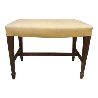 Neoclassical Bench Stool With Swoop Apron Seat For Sale