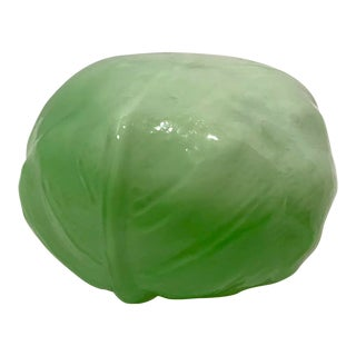 Country Blown Glass Cabbage Figurine For Sale