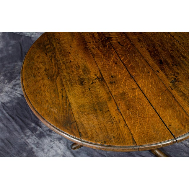Oak 18th Century English Traditional Wooden Tripod Table For Sale - Image 7 of 9