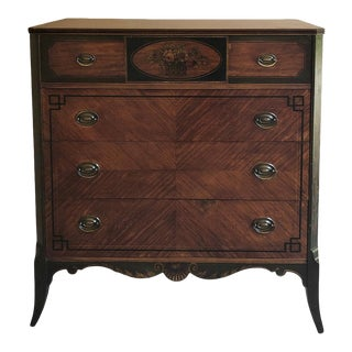 Antique English Painted Chest of Drawers For Sale
