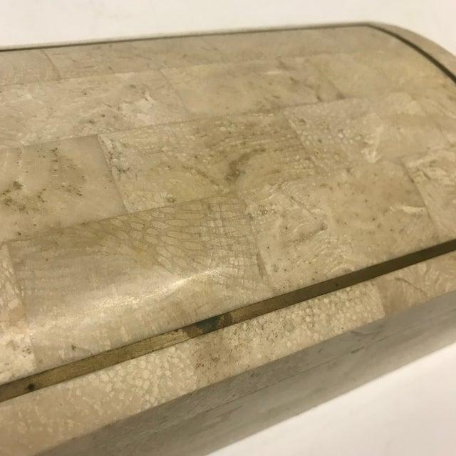 Maitland - Smith Maitland-Smith Tesselated Stone Box For Sale - Image 4 of 6
