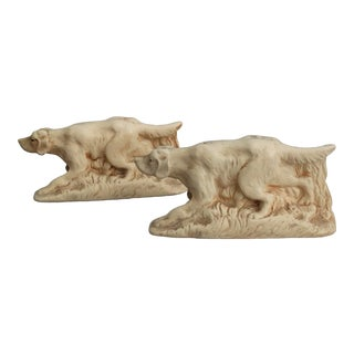 McCoy Sporting Dog Bookends - a Pair For Sale