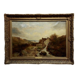 After John Constable - Cottage by the Sea -19th Century Oil Painting For Sale