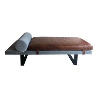 Bobo Intriguing Objects Leather and Velvet Patton Daybed For Sale