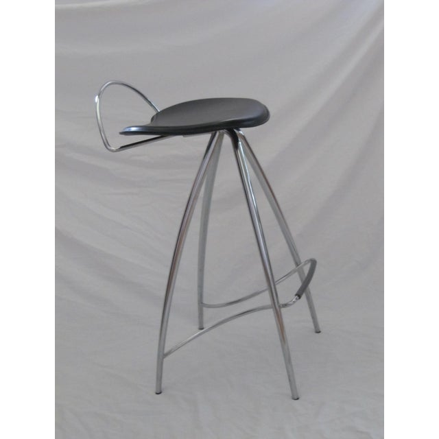 Cattelan Italian Leather Counter Stools- Set of 3 - Image 9 of 9