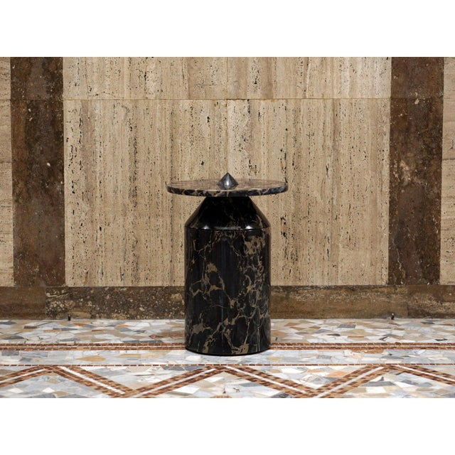 Stone Black Portoro Marble Coffee Table by Karen Chekerdjian For Sale - Image 7 of 13