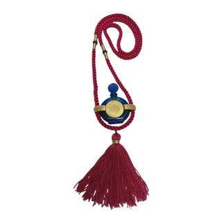 Vintage Rochas Tassel Perfume Pendant Necklace For Sale