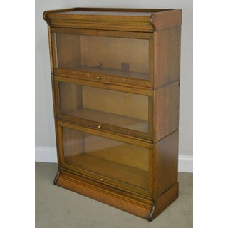 Antique Oak 3 Stack Barrister Bookcase Preview