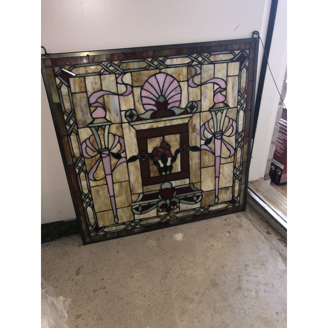 Traditional Stained Glass Panels - Set of 3 For Sale - Image 3 of 6