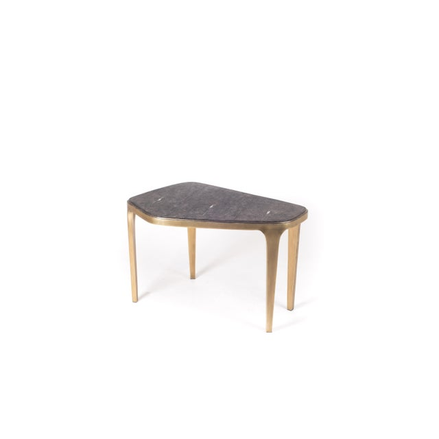 Art Deco Cosmos Nesting Coffee Table Black Shagreen & Bronze-Patina Brass by R&y Augousti For Sale - Image 3 of 7