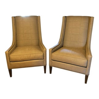 Kravet Wingback Chairs- A Pair For Sale