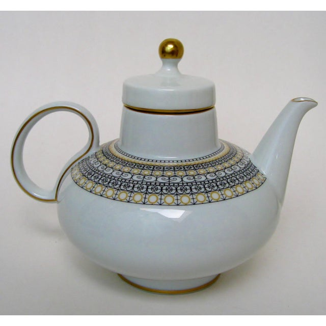 Islamic Argentinian Porcelain Teapot For Sale - Image 3 of 9